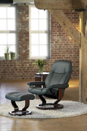 Remarkable Stressless Ambassador Large Consul Recliner Chair Bralicious Painted Fabric Chair Ideas Braliciousco