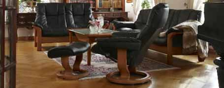 stressless buckingham high back leather ergonomic sofa couch by